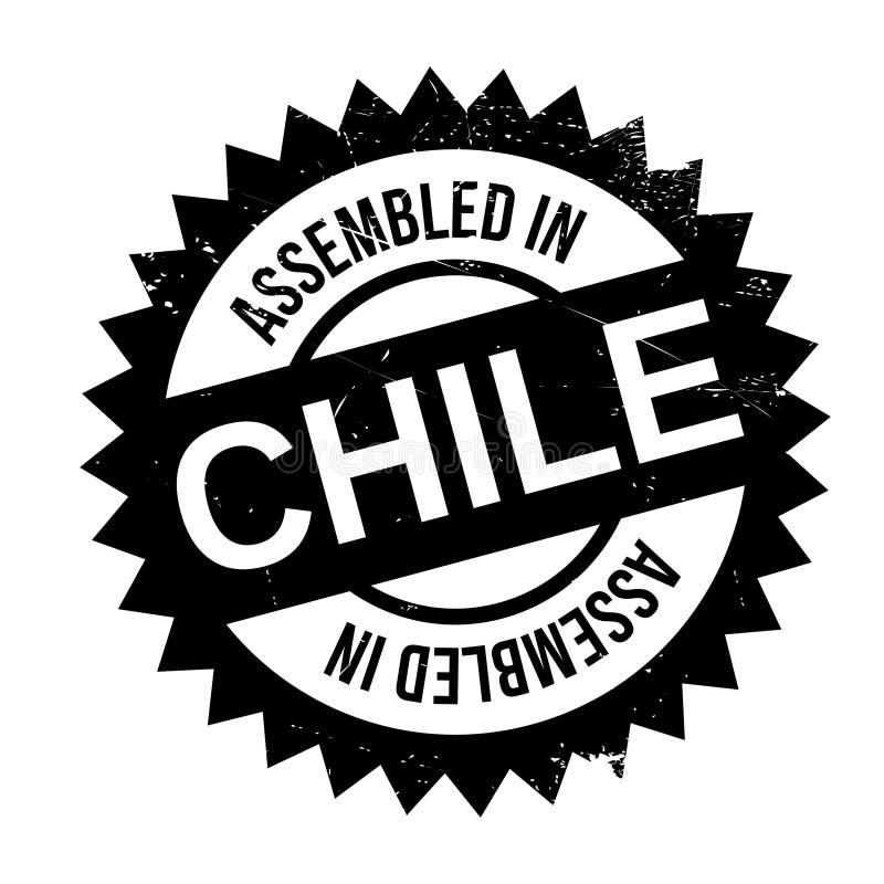 Gromadzić w Chile pieczątce royalty ilustracja