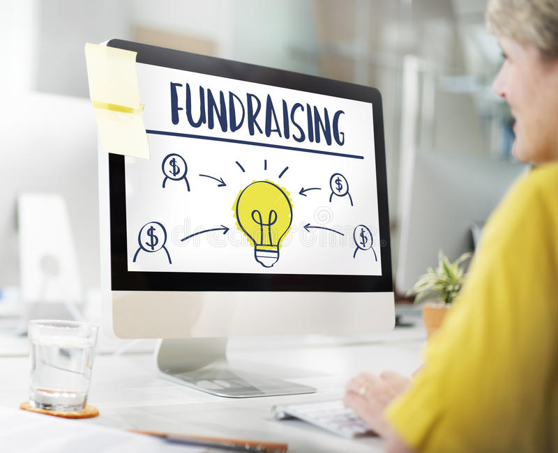Gromadzi fundusze Kapitałowy darowizna funduszy poparcia pojęcie obraz royalty free