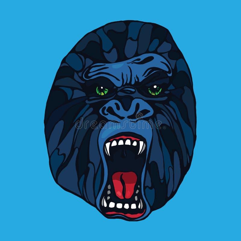 Grommende gorillatatoegering stock illustratie