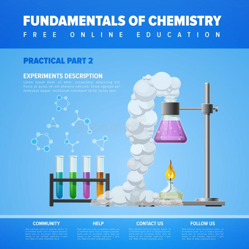 Grondbeginselen van chemie royalty-vrije illustratie