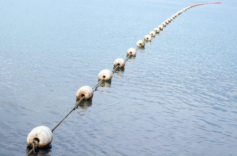 Grondements sur la surface de mer images stock
