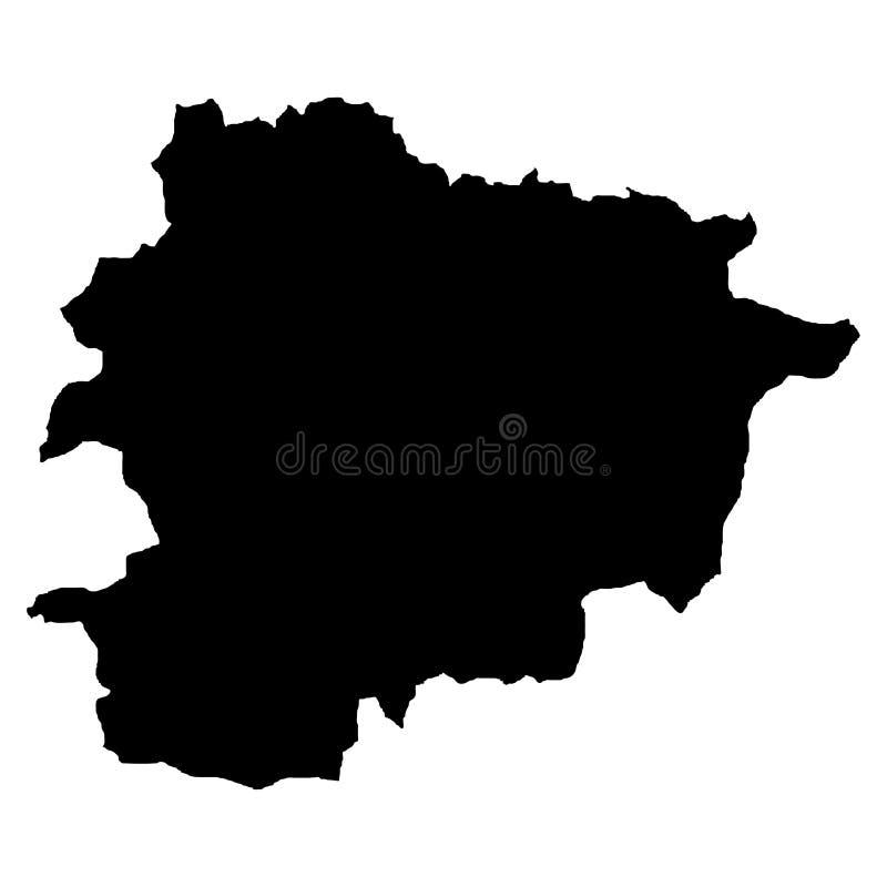 Grondgebied van Andorra Witte achtergrond Vector illustratie stock illustratie