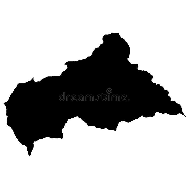Grondgebied van de Centraalafrikaanse Republiek Witte achtergrond Vector illustratie vector illustratie