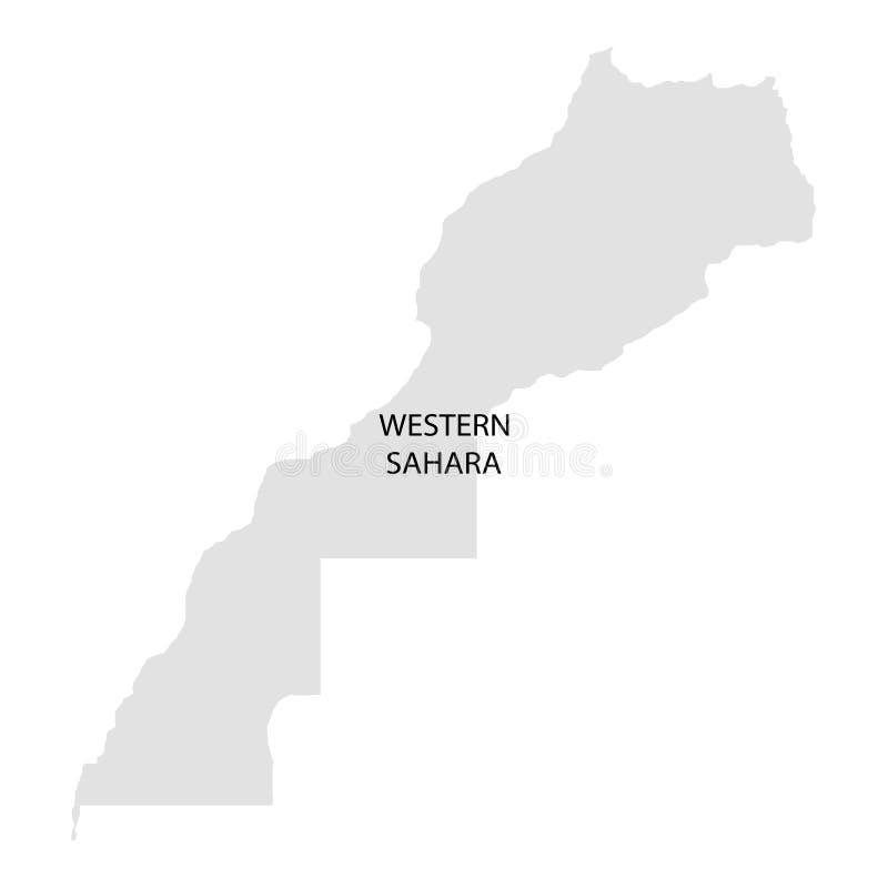 Grondgebied van de Westelijke Sahara Witte achtergrond Vector illustratie vector illustratie