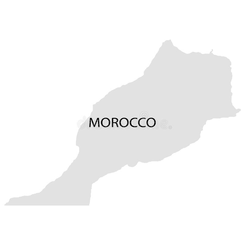 Grondgebied van Marokko Witte achtergrond Vector illustratie vector illustratie