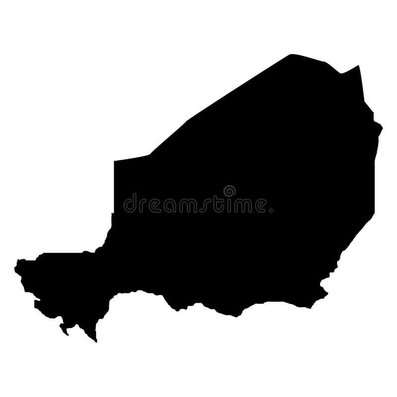 Grondgebied van Niger Witte achtergrond Vector illustratie royalty-vrije illustratie
