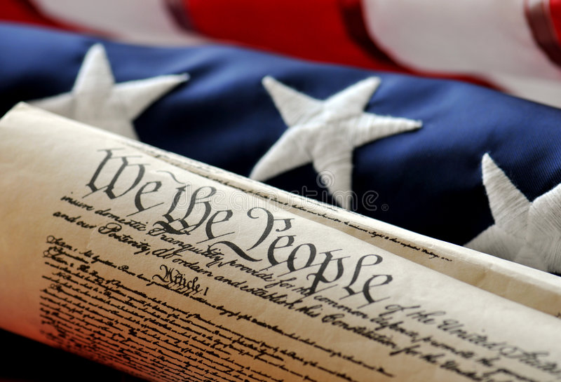 Grondwet - beroemd document royalty-vrije stock afbeeldingen