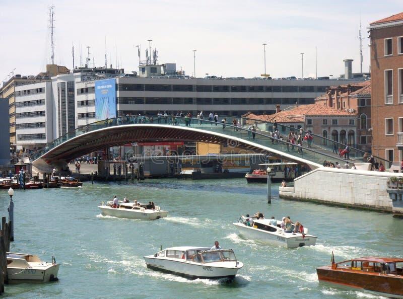 Grondwetsbrug op Grand Canal stock foto's