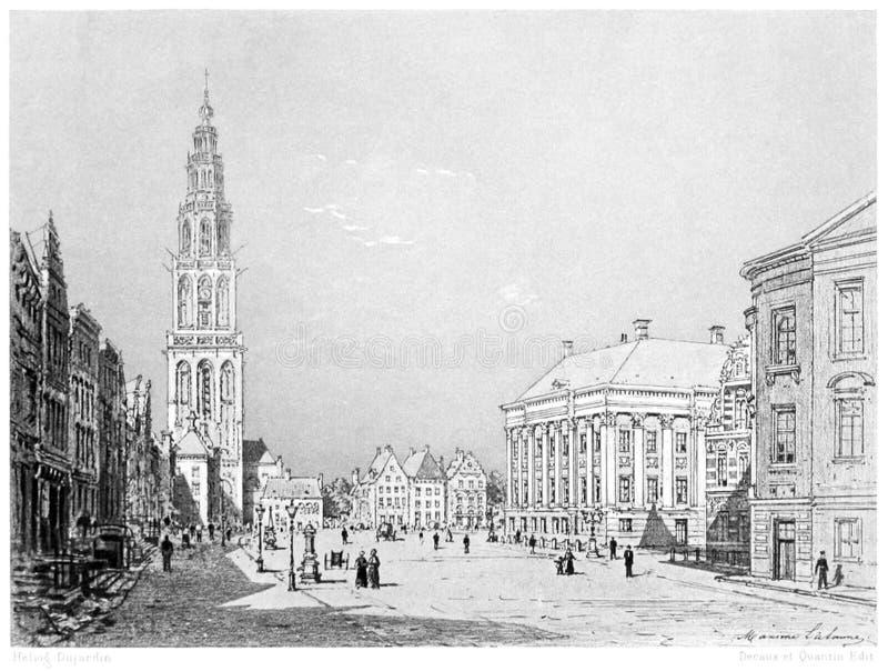 Groningen—the City Hall stock photos