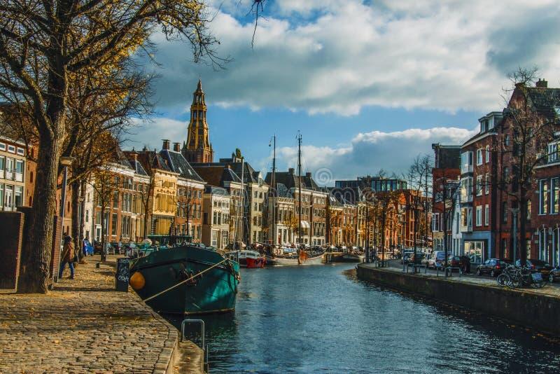 Groningen miasto holandie fotografia royalty free