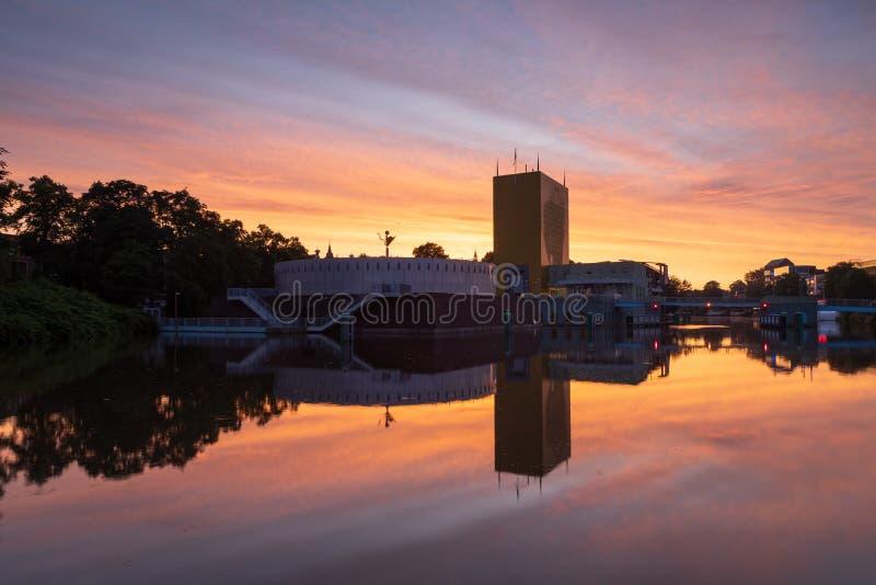 Groningen o wschodzie słońca fotografia stock