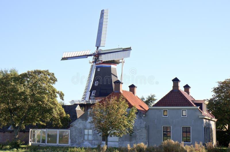Groninger磨房De Jonge亨德里克,小室Andel,荷兰 免版税库存图片