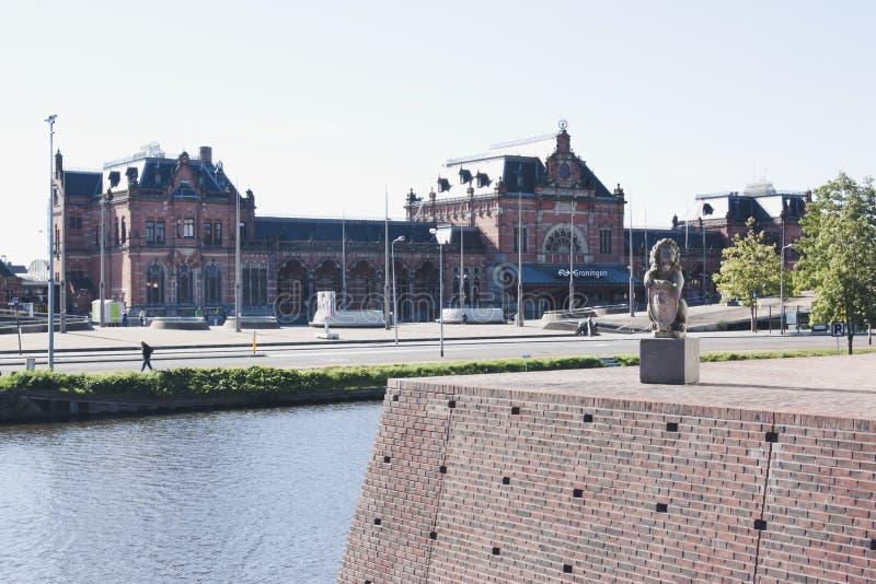 Groninger stacja kolejowa holandie obrazy stock