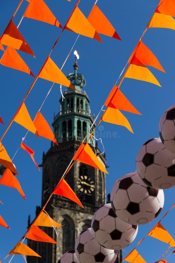 Groningue pendant la coupe du monde 2014 photographie stock libre de droits