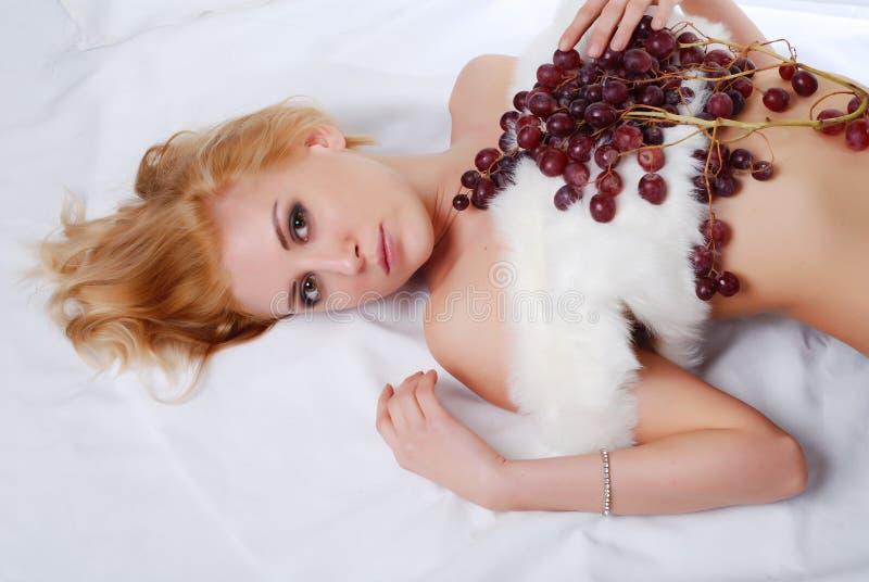 gronowa kobieta zdjęcie stock