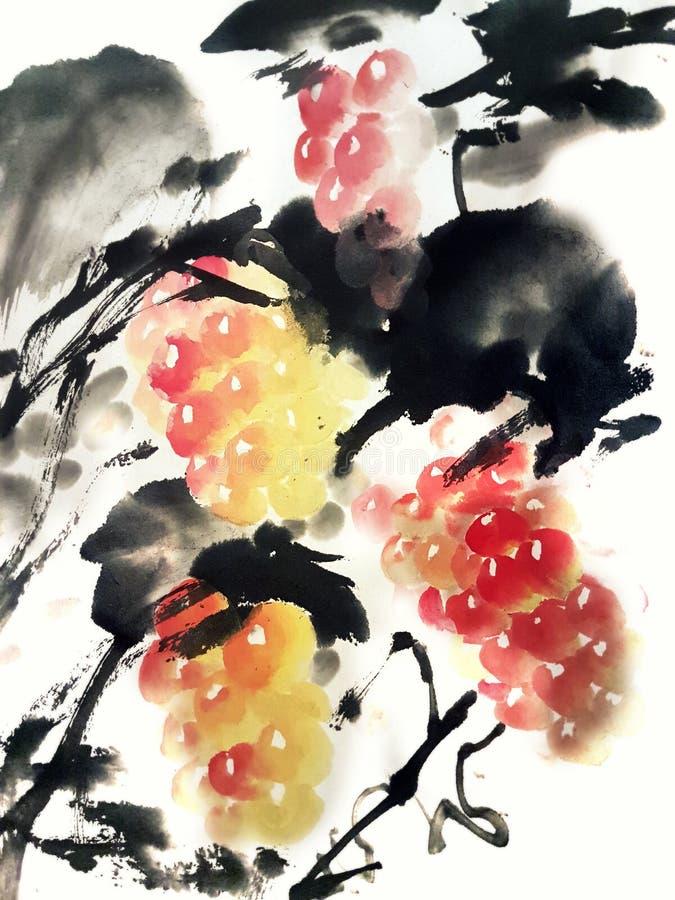 Gronowy Chiński obraz ilustracji