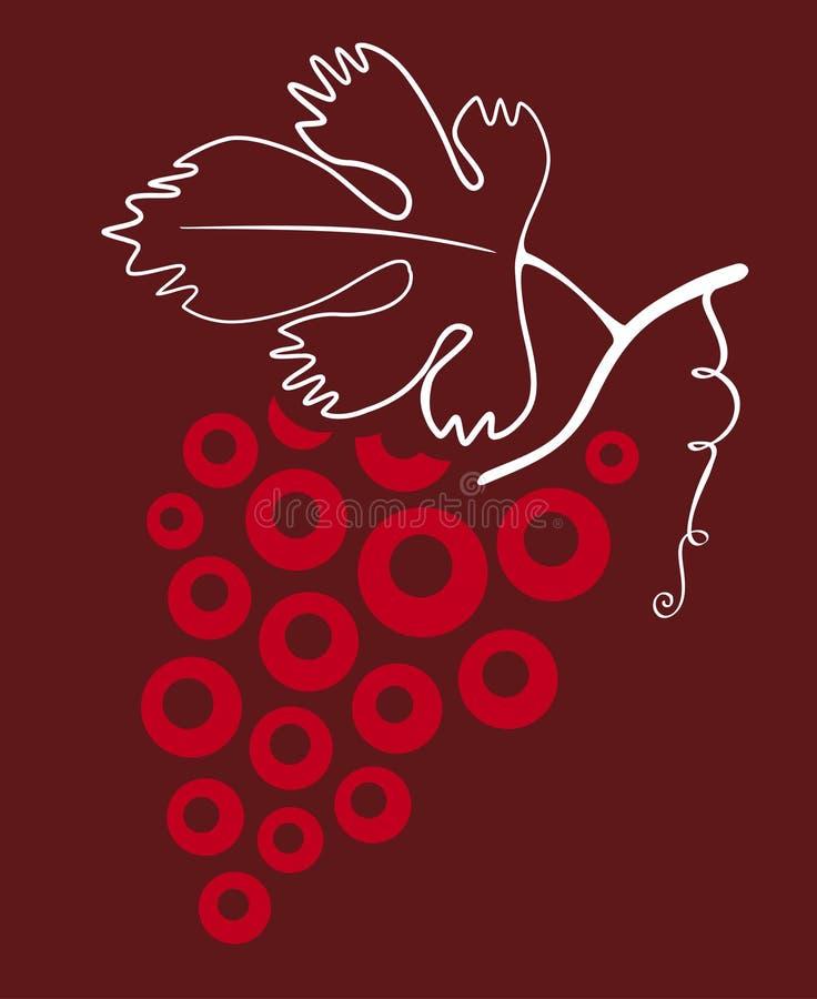 gronowy wino ilustracja wektor