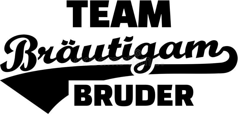 Groom команды братства немецко Винтажный шрифт иллюстрация вектора