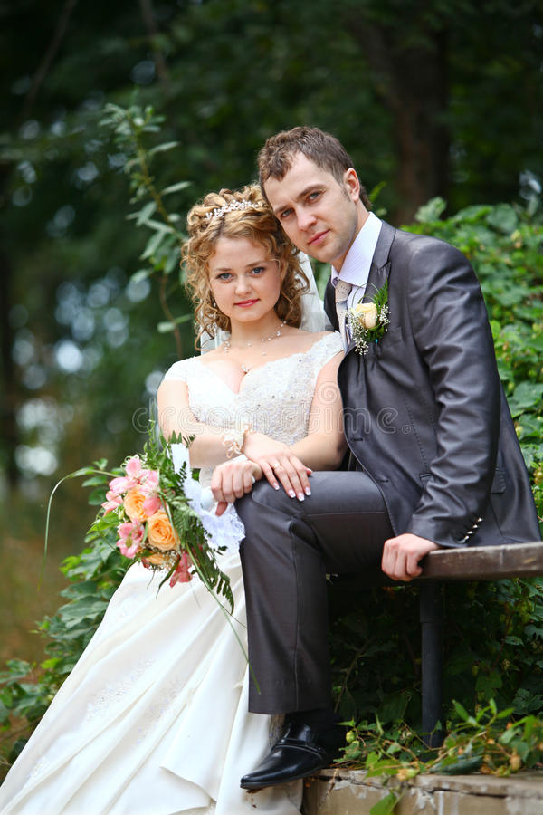 Download Groom and bride stock image. Image of back, embrace, fashioned - 23191879