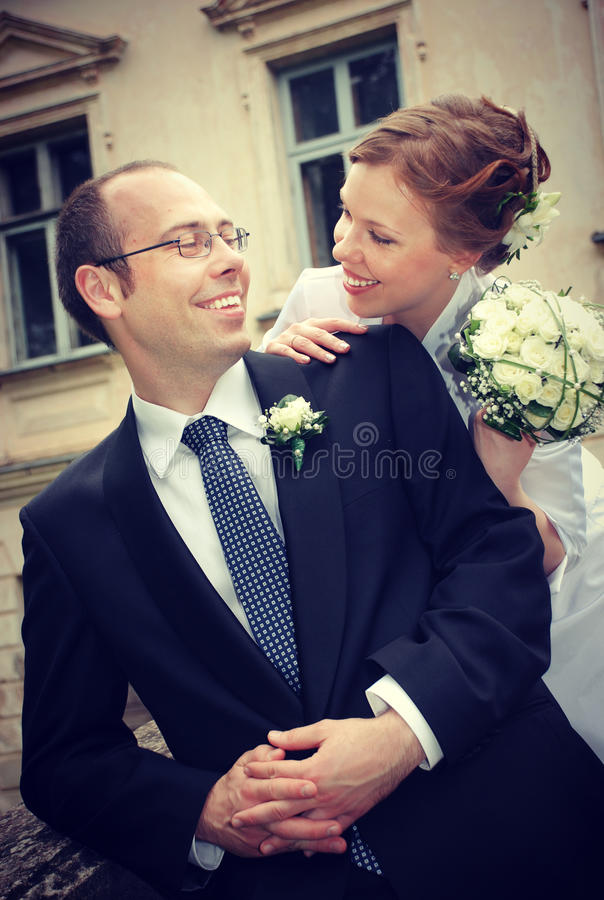 Groom And Bride Royalty Free Stock Photos