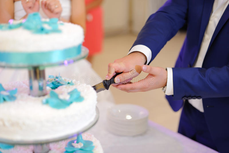 Groom And Cake Stock Photo