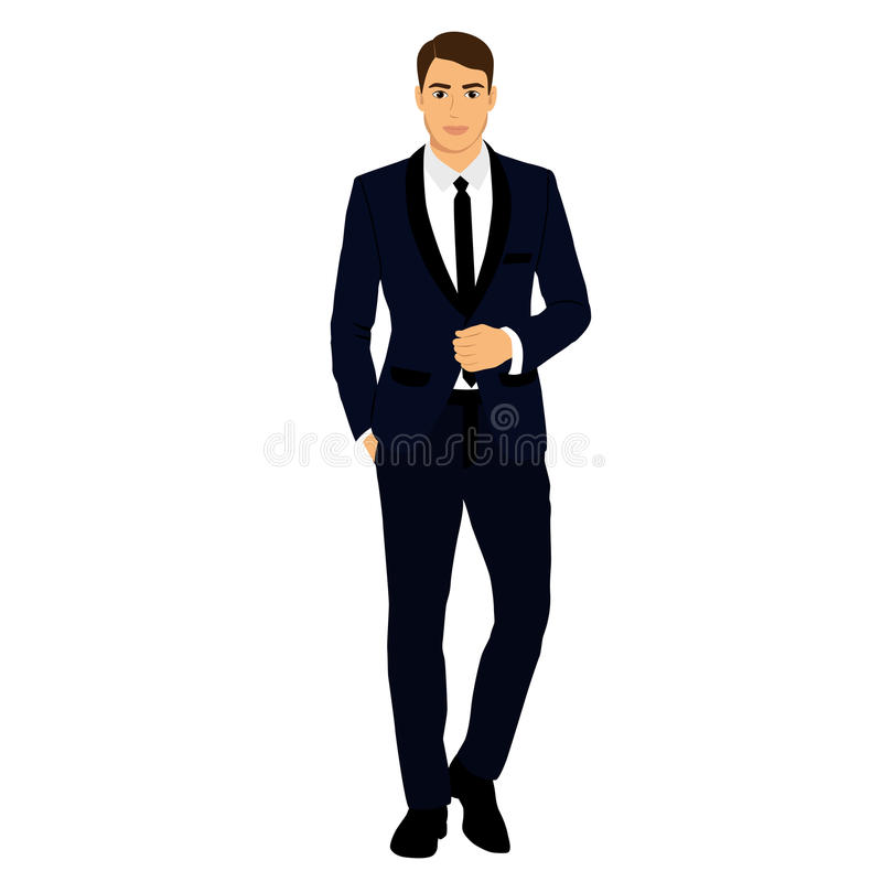 The groom. Clothing. stock illustration