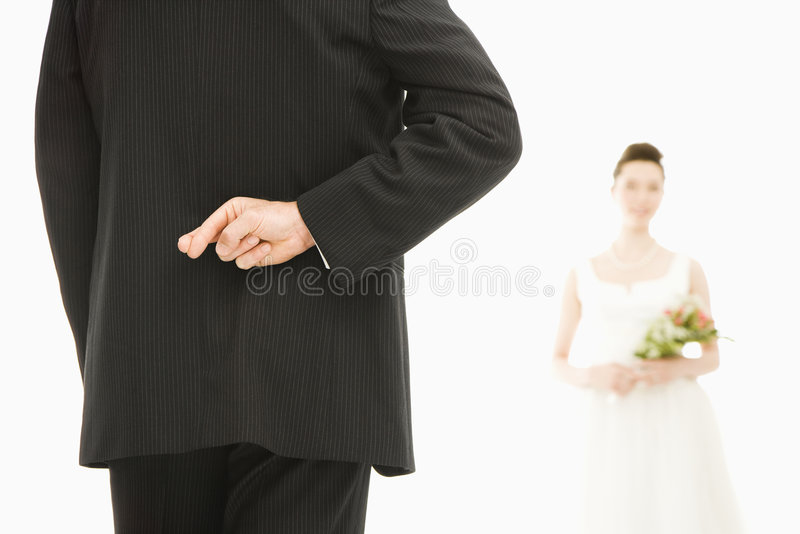 Download Groom With Crossed Fingers. Stock Photo - Image: 2678708