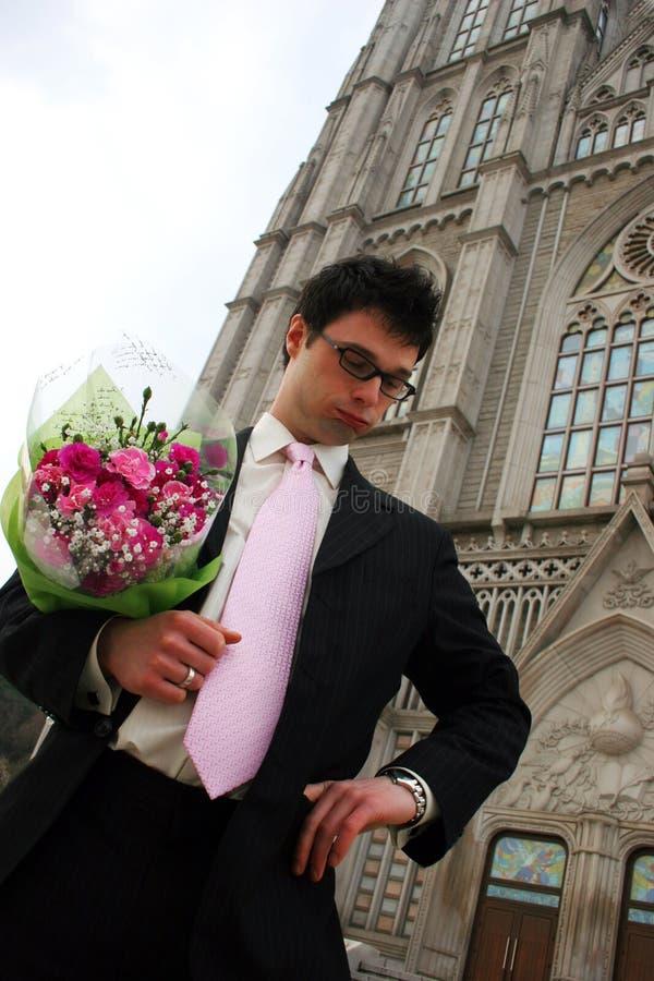 groom nervous στοκ εικόνα