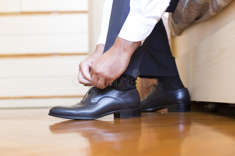 Groom shoes stock image