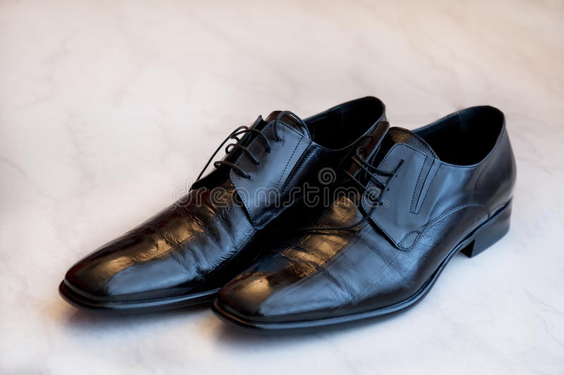 Groom shoes royalty free stock images
