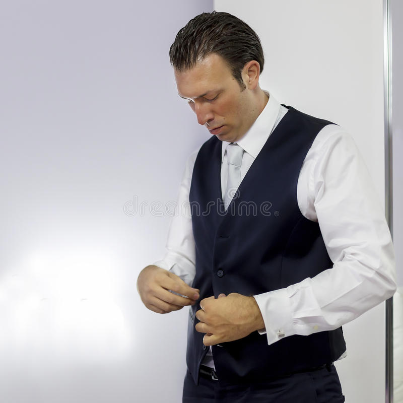 Groom suit stock photography