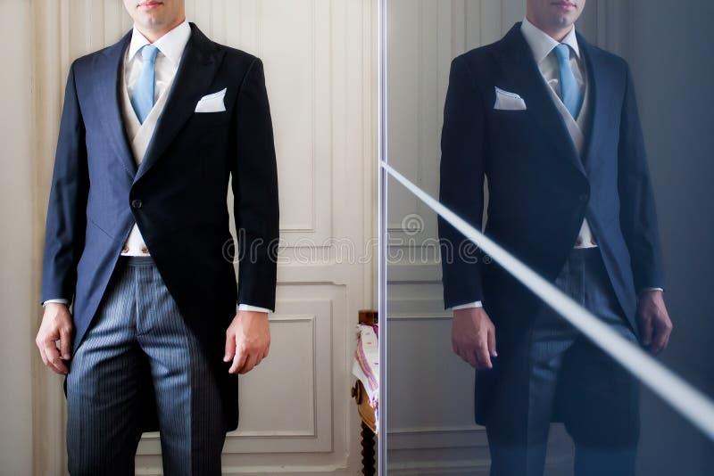 Groom tuxedo stock photos