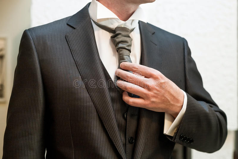 Groom tuxedo royalty free stock photos