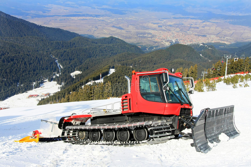 Groomer da neve polar imagem de stock royalty free