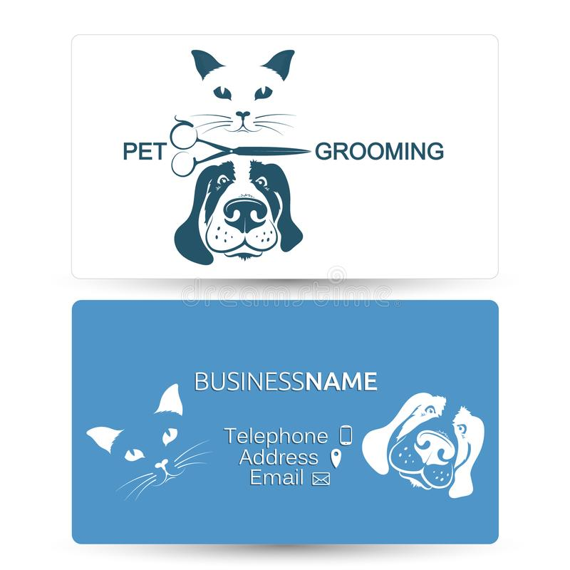 Grooming of dogs and cats business card stock vector illustration download grooming of dogs and cats business card stock vector illustration of cats comb colourmoves