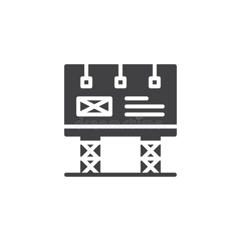 Groot aanplakbord met lampen vectorpictogram vector illustratie