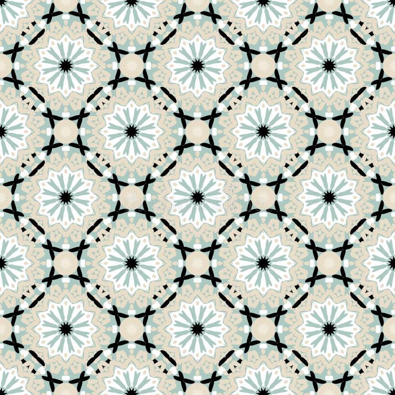 Groot abstract bloemenpatroon stock illustratie
