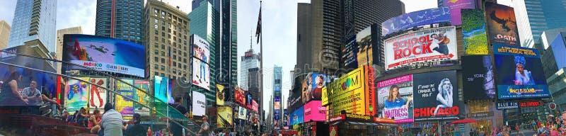 Groot beeld van Times Square in Manhattan stock fotografie