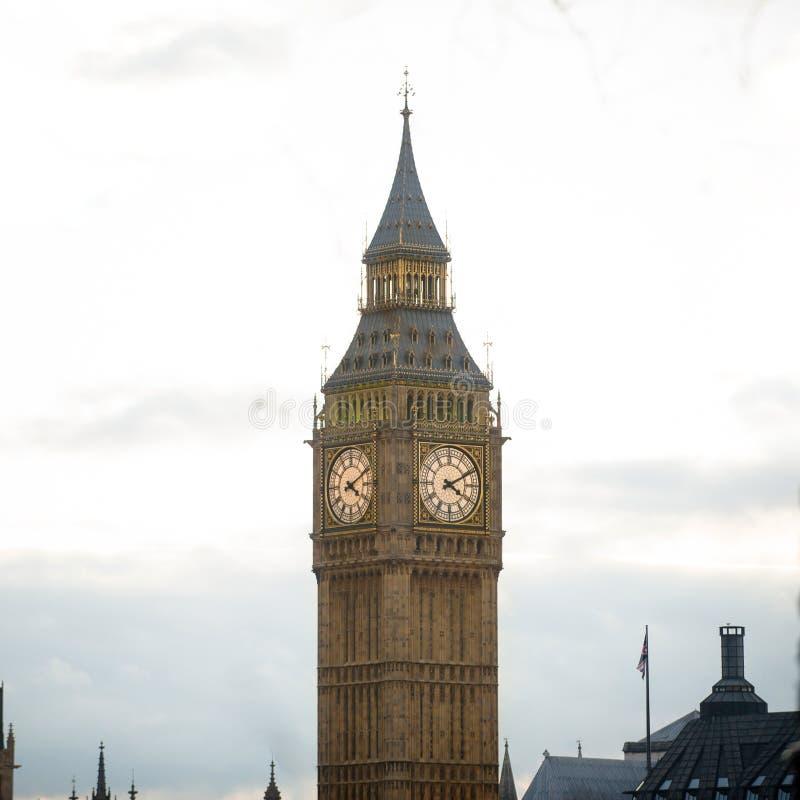 Groot Ben Elizabeth Tower, Londen stock afbeelding