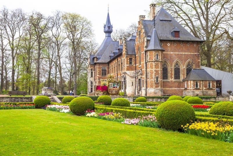 Groot-Bijgaarden slott royaltyfri bild