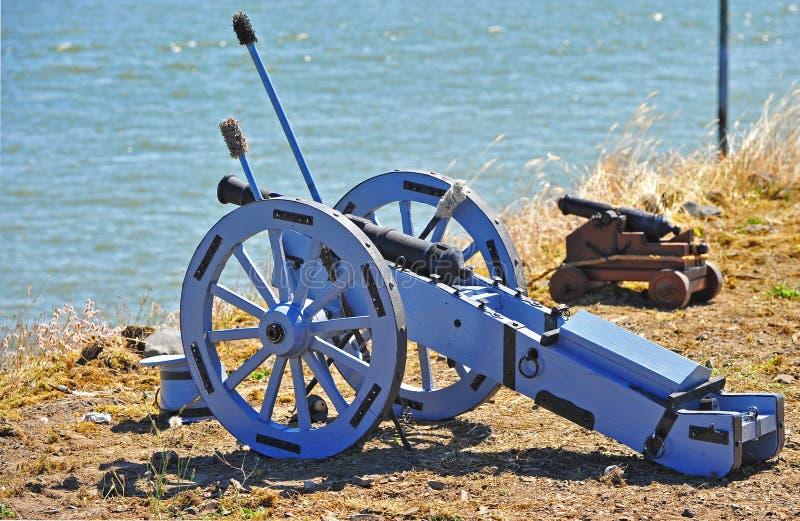 Groot Blauw Kanon royalty-vrije stock afbeeldingen