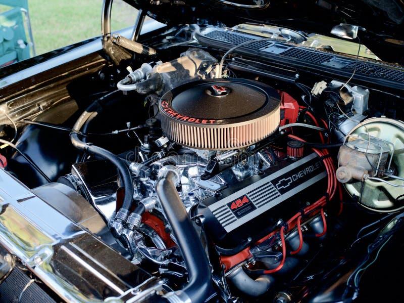 Groot Blok 454 van Chevrolet Motor royalty-vrije stock foto