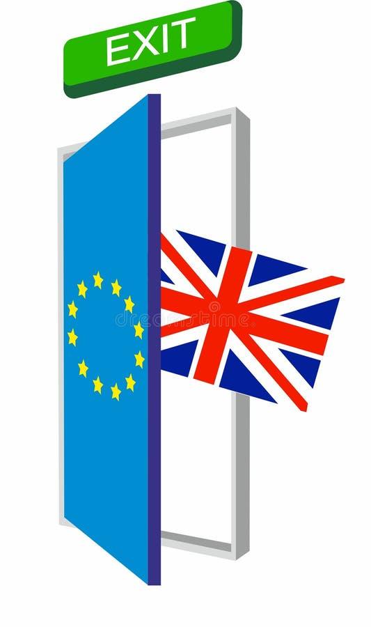 Groot-Brittannië die Europese Unie verlaten royalty-vrije stock foto's