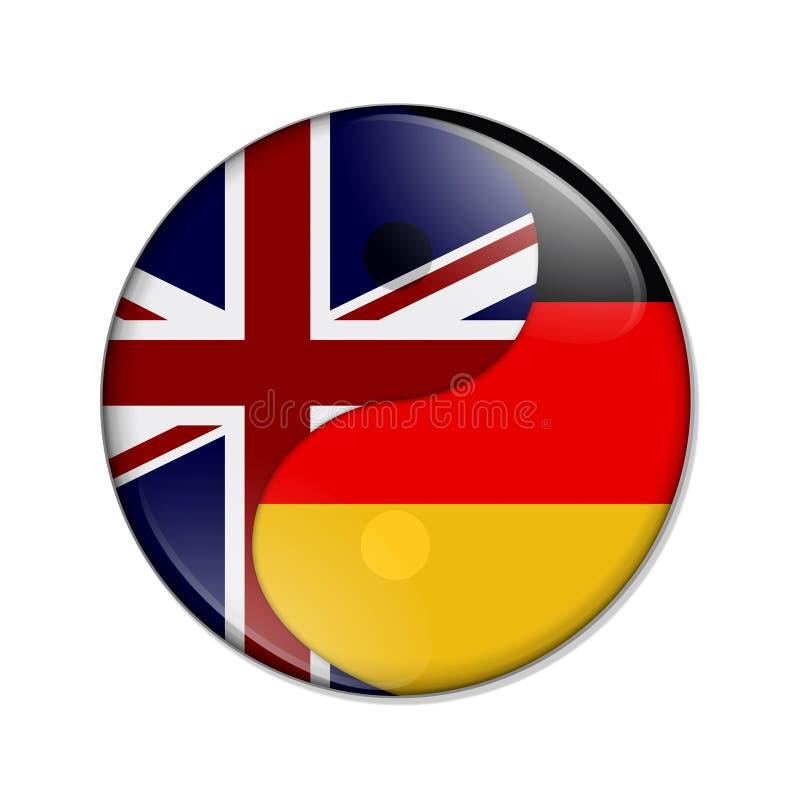 Groot-Brittannië en Duitsland die samenwerken stock illustratie