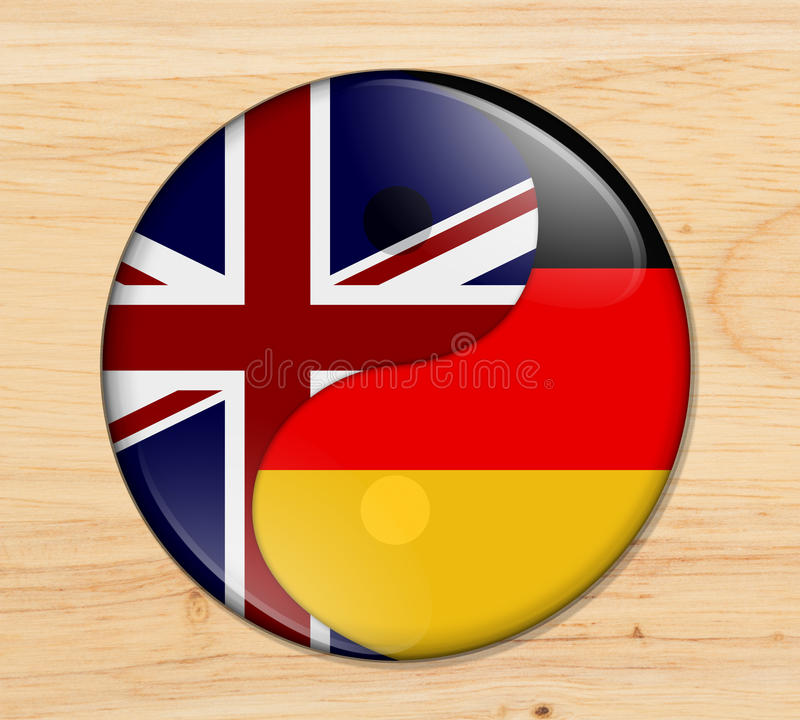 Groot-Brittannië en Duitsland die samenwerken vector illustratie