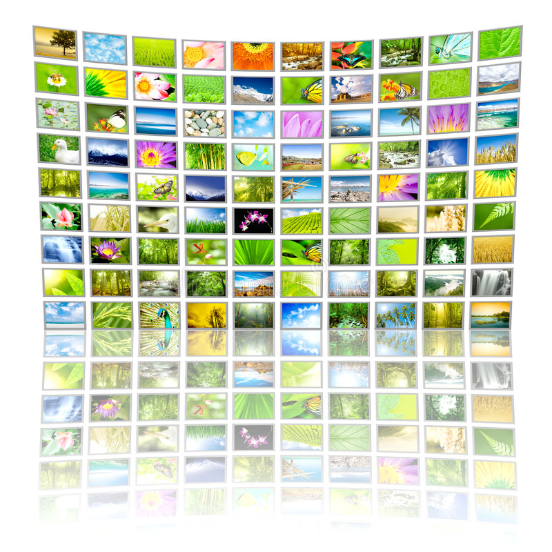 Groot Comité van TV stock foto's