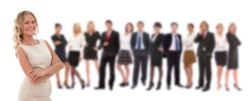 Groot commercieel team stock afbeeldingen