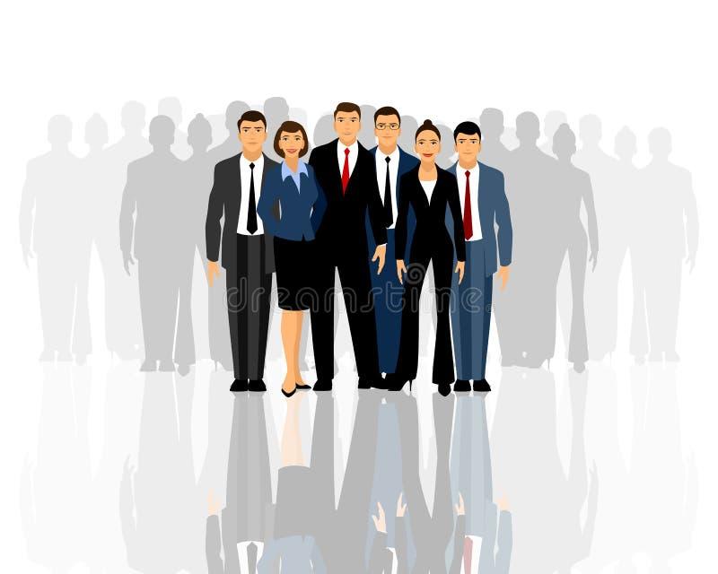 Groot commercieel team vector illustratie