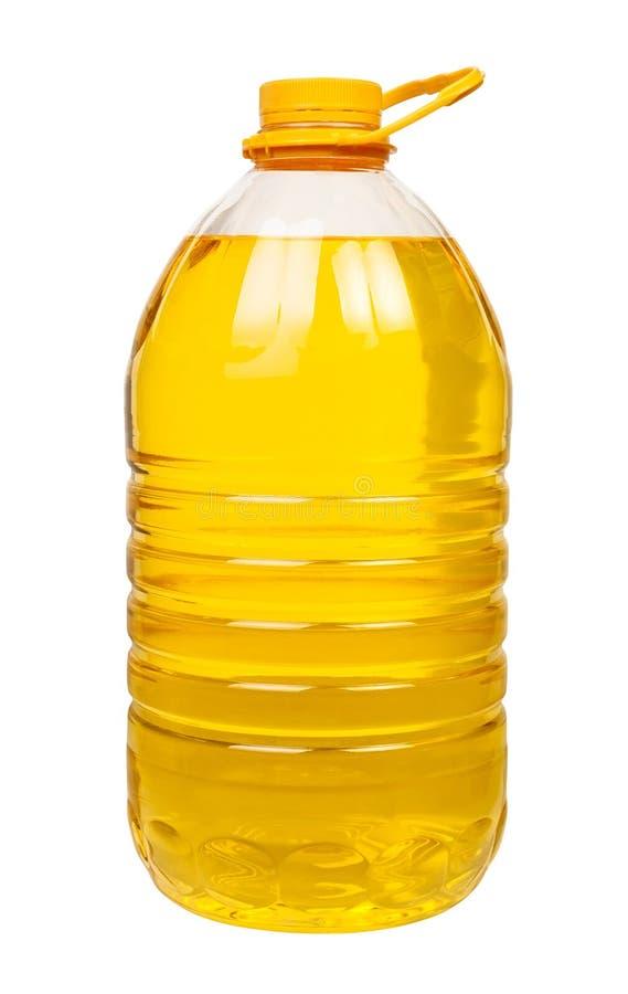 Groot de olieplastiek van de fles royalty-vrije stock foto's
