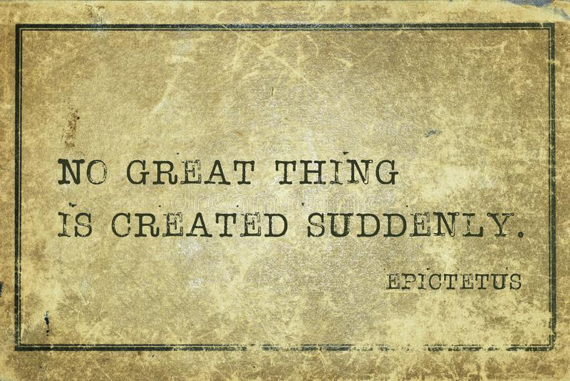 Groot ding Epictetus royalty-vrije stock fotografie